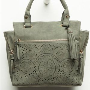 Free People Bags - Amber Perforated Satchel